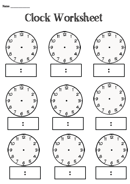 Clock worksheet blank this is a one page resource that teachers clock worksheet blank this is a one page resource that teachers educators can use to teach their students about time it is blank to enable you to ibookread ePUb