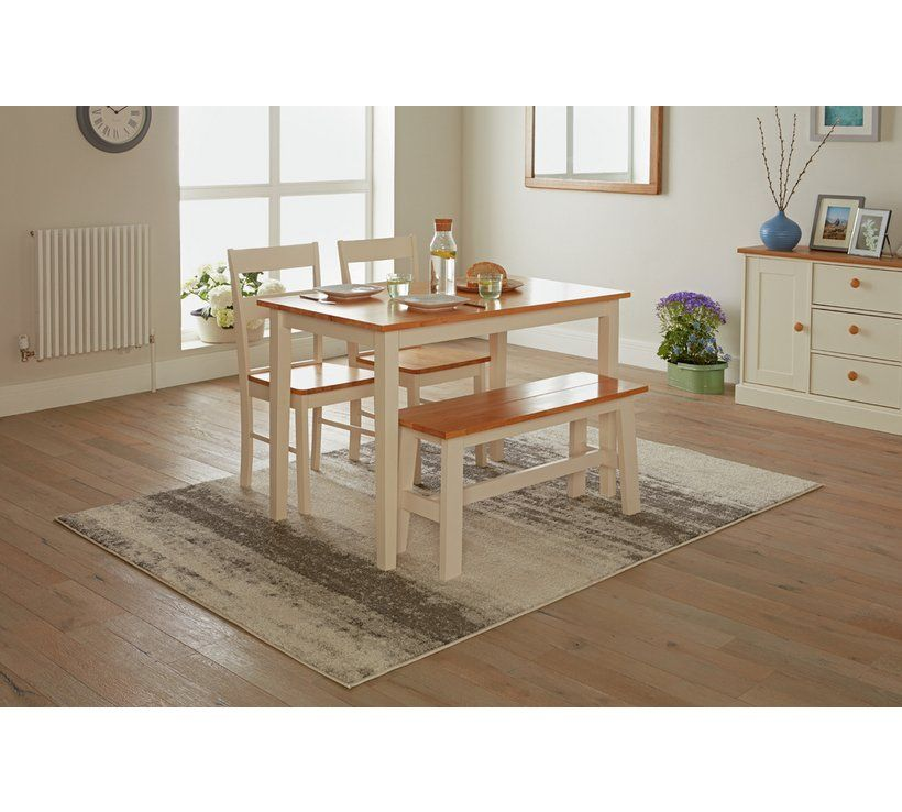 Buy Habitat Chicago Solid Wood Table 2 Chairs Bench Space Saving Dining Sets Argos Solid Wood Table Solid Wood Table Tops Wood Table