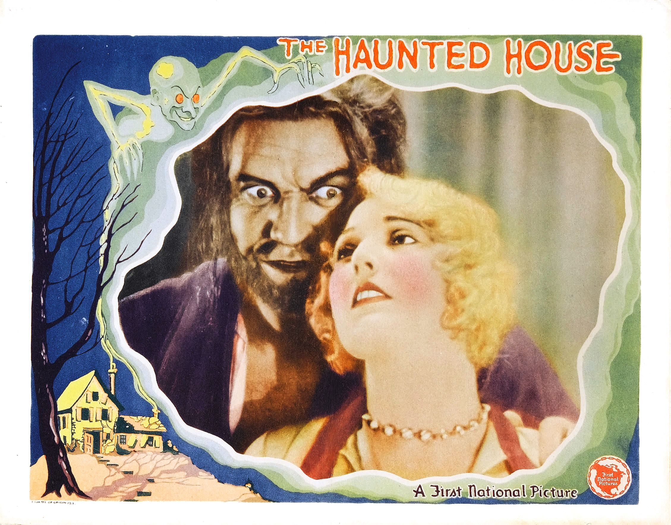 The Haunted House 1928 Film Posters Vintage Horror Movie Art