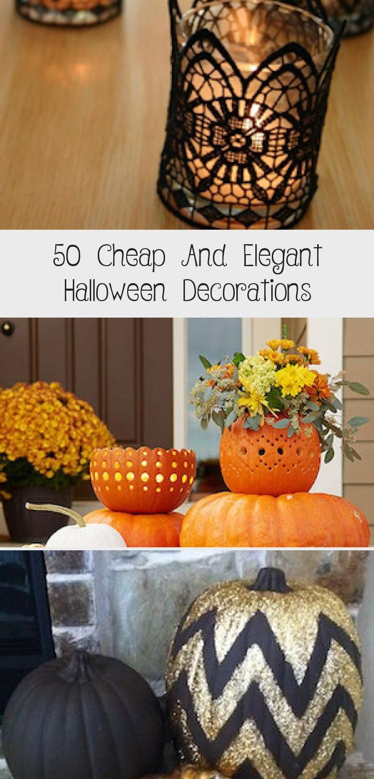 50 Cheap And Elegant Halloween Decorations #eleganthalloweendecor