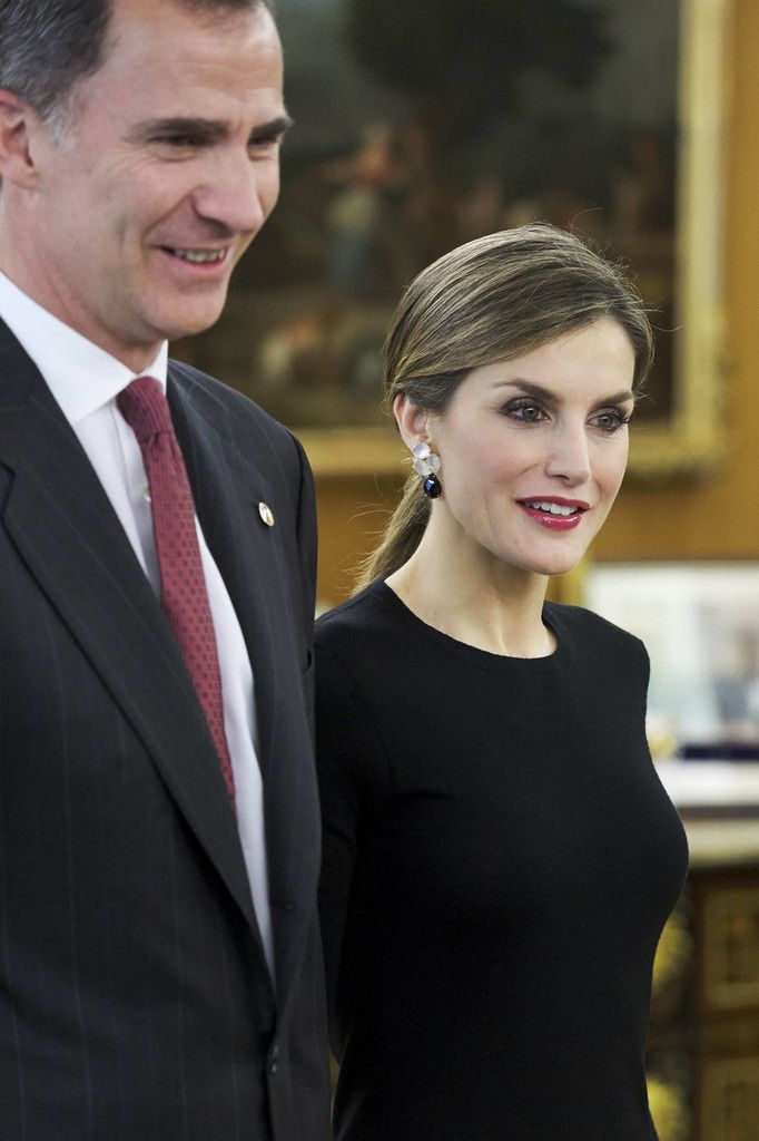 King Felipe VI of Spain and Queen Letizia of Spain meet Medical and Scientific personalities at the Zarzuela Palace on June 2, 2016 in Madrid, Spain.