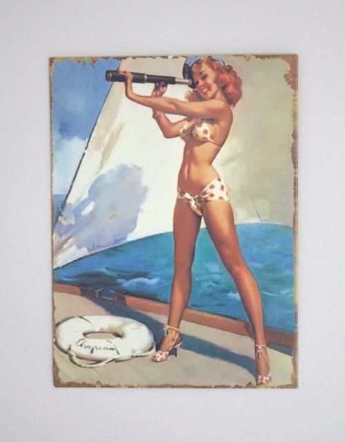 Metal Pin up plaque £10.95