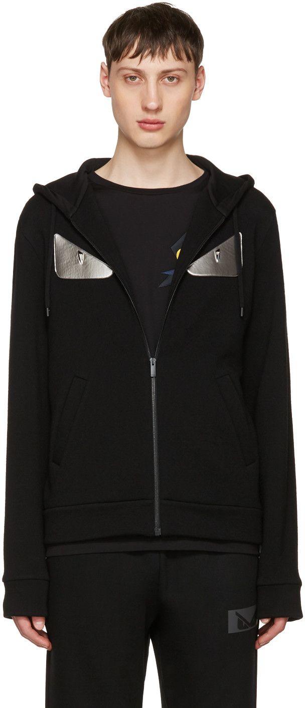 6b9ac979e408 FENDI Black  Bag Bugs  Zip Hoodie.  fendi  cloth  hoodie