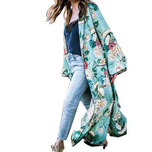 902fc8677b897b Cardigan Shawl Amlaiworld Femmes Bohême Cardigan Gland Floral Cover Up  Kimono Long Surdimensionné Shawl Tops (