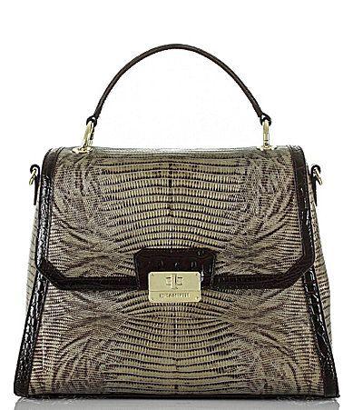 f3ed6e9b05f0 Brahmin Pennfield Collection Brinley LizardEmbossed Top Handle Satchel # Dillards Brahmin Handbags, Beautiful Bags,