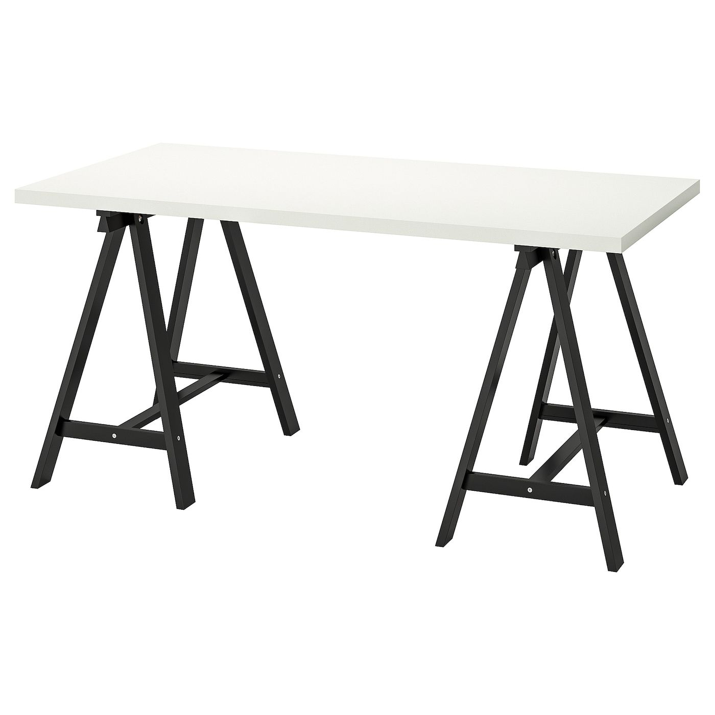 Linnmon Oddvald Table White Black 59x29 1 2