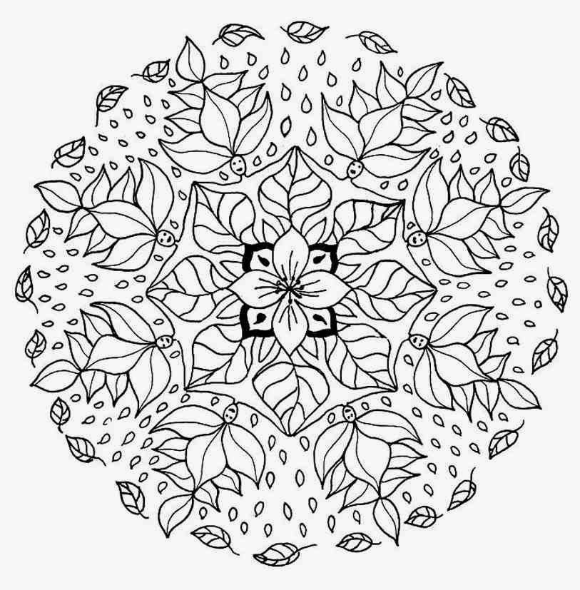 Mandala flower coloring pages difficult free mandala for Coloring pages for adults difficult flower