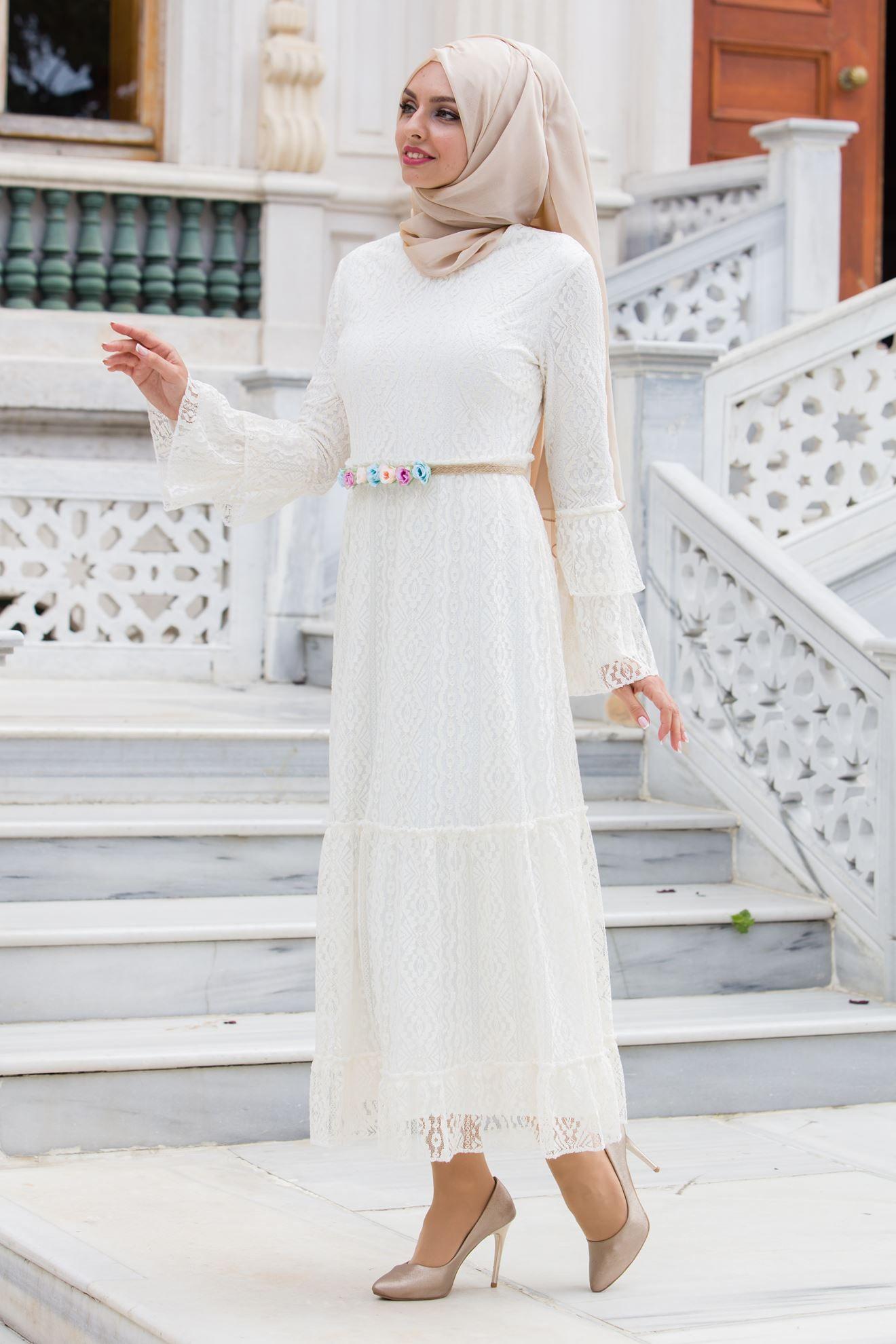 Sedanur Tesettur Dantelli Elbise Modelleri Elbise Modelleri Elbise The Dress