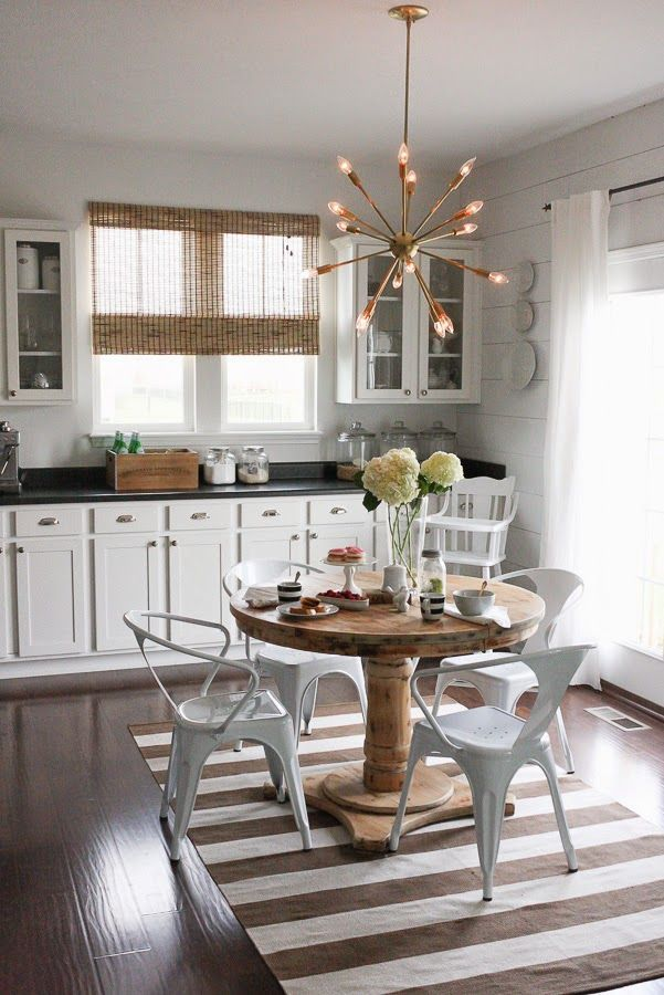 Kitchen Chandeliers Traditional Eclectic home tour house seven traditional kitchen furniture modern sputnik chandelier mixes with traditional kitchen furniture eclecticallyvintage audiocablefo