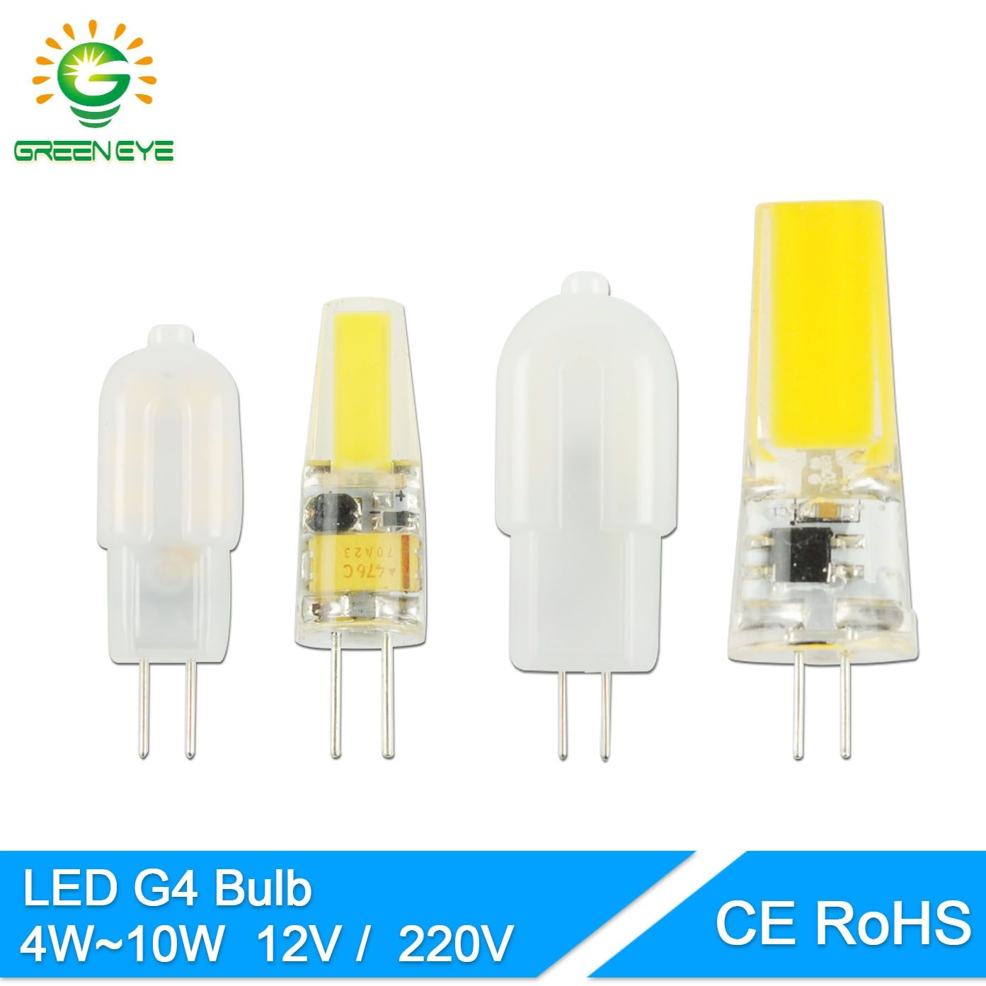 Greeneye Cob G4 Led Bulb Acdc 12v Ac220v 4w 6w 10w Led G4 Lamp