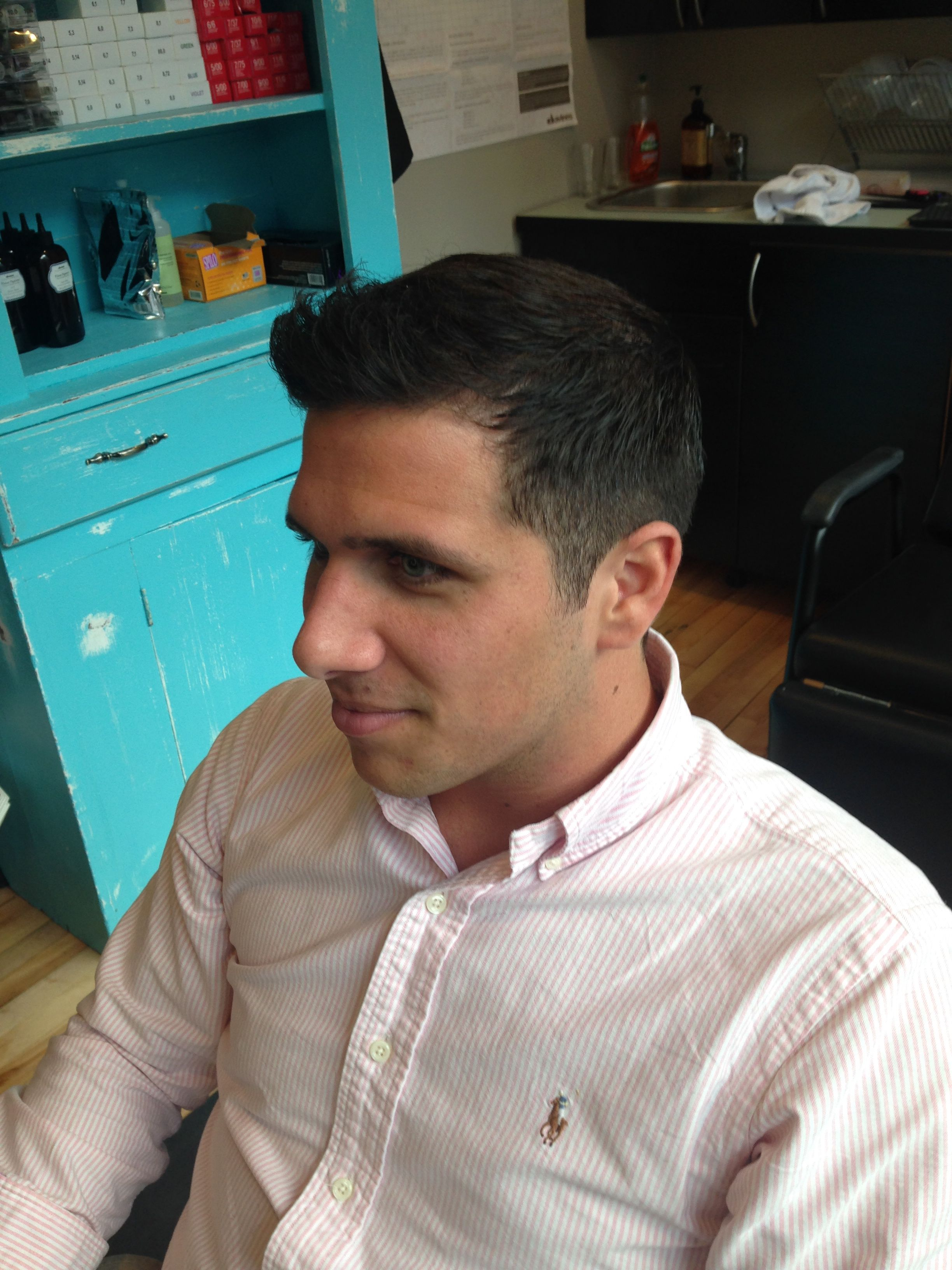 Modern Mens Haircut By Kellyn At Bow Arrow Menscut Modern