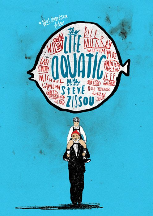 The Life Aquatic with Steve Zissou Film Poster. £50 by Peter Strain