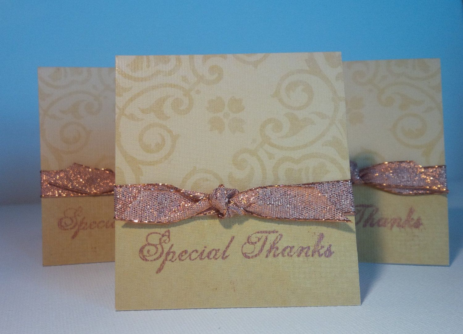 Set of 5  Special Blank Mini Thank You Cards by NyraCards on Etsy, $3.50