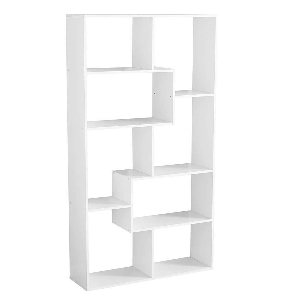 Stylish Modern Open Shelf Bookcase Freestanding Cube Shelving