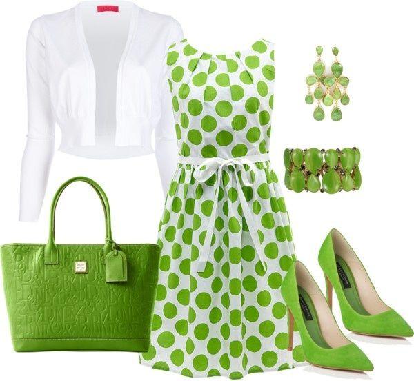 Combinar vestido verde limon