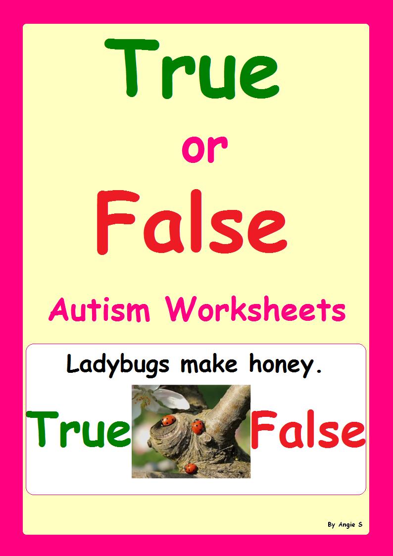 True Or False Special Education Worksheets Special Education Worksheets Language Arts Lessons Special Education [ 1123 x 794 Pixel ]
