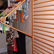 I repurposed a wooden baby safety gate system I got off Freecycle and :: Hometalk