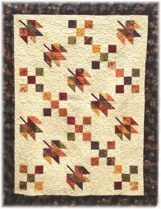 Falling Leaves By Quilter By Night Designs Fqs Happy