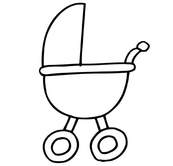 tekening baby wieg zoeken kleurplaten