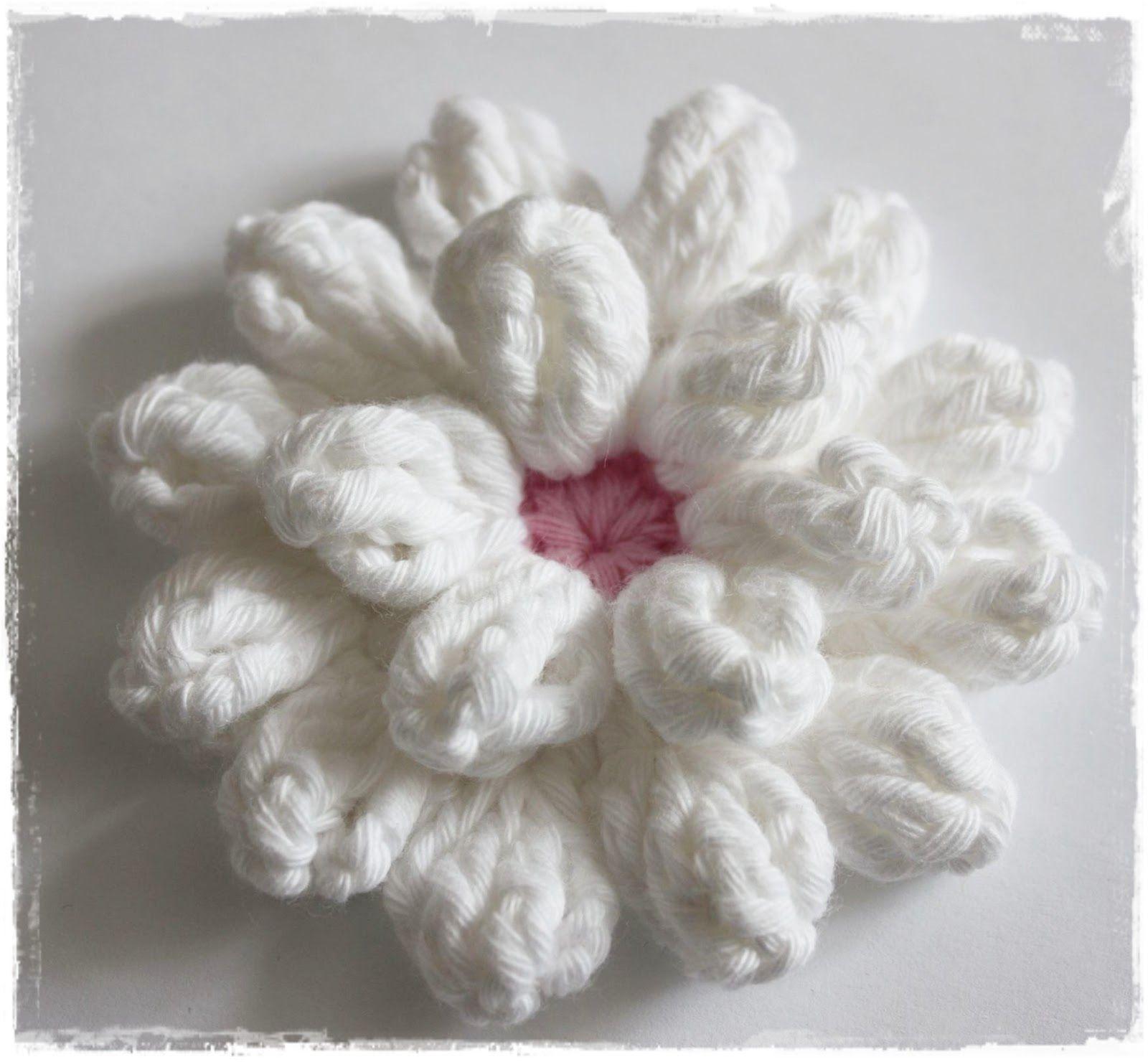 3D-Häkelblüte | Häkeln - Blumen & Blüten | Pinterest | Häkeln ...