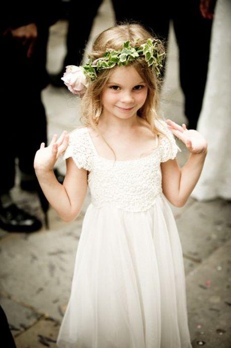 263747710680d Robe blanche dentelle petite fille. Robe cortege fille dentelle Flower Girl  Dresses Boho ...