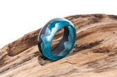 Arctic Wood Resin Ring Eco Epoxy Jewelry Green Wood the secret of the magical world in tiny  Arctic Wood Resin Ring Eco Epoxy Jewelry Green Wood the secret of the magical...