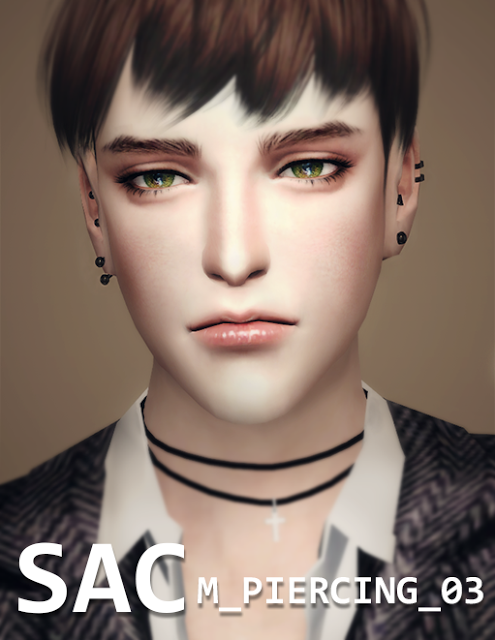 Sims 4 CC's - The Best: Piercings by SSAC