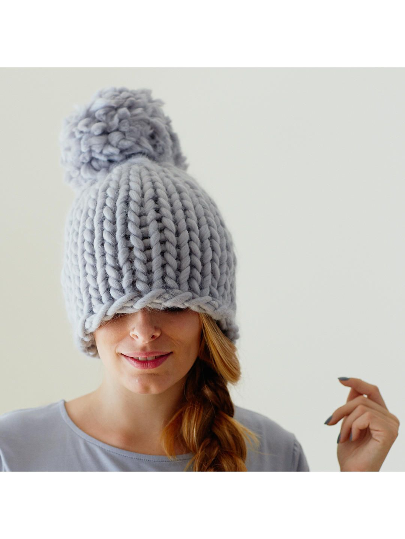 Erika Knight for John Lewis XXL Pom Pom Hat Knitting ...