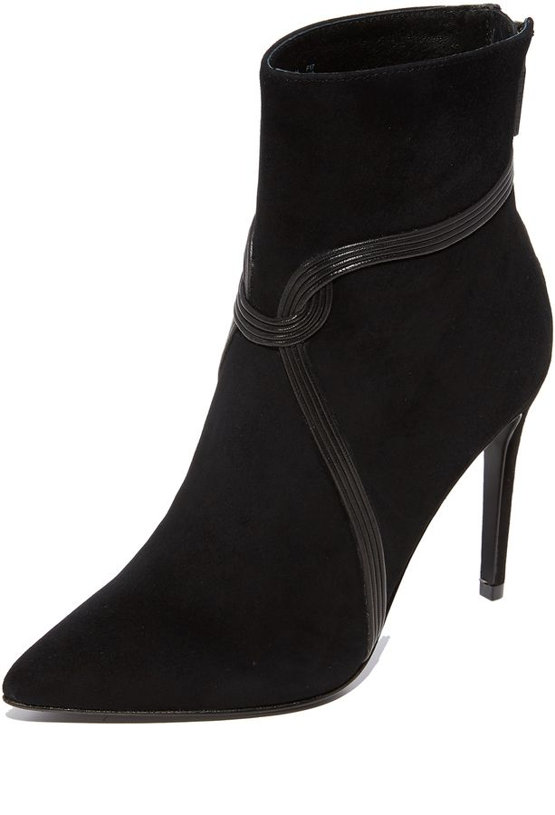 cheap sale for sale outlet fashionable Rachel Zoe Suede Pointed-Toe Booties cheap sale extremely discount many kinds of zRMJIgOi