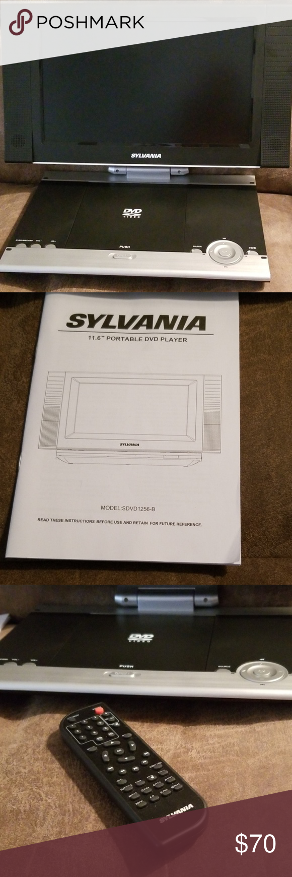 Portable Dvd Player Brand New Sylvania Portable Dvd Player Comes With Owner S Manual Wall Charger Car Charger Portable Dvd Player Dvd Player Charger Car