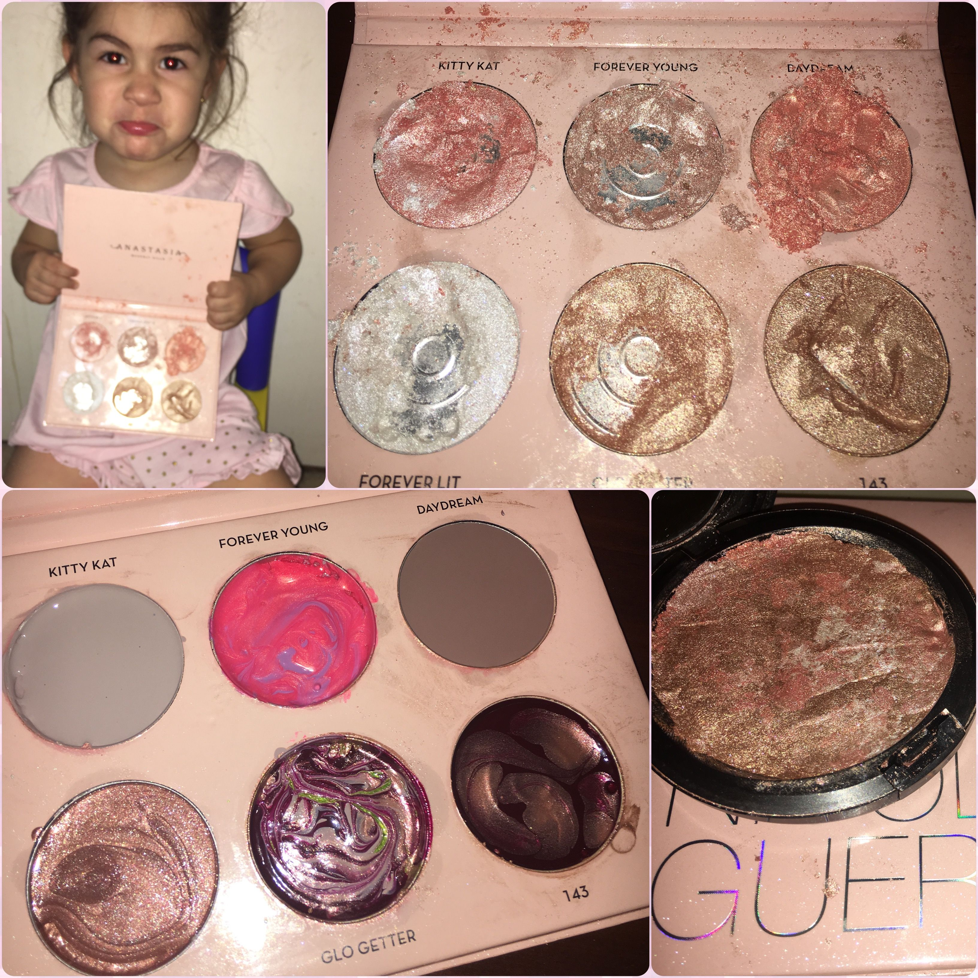 My Toddler Destroyed My ABHXNICOLEGUERRIERO Glow Kit! I