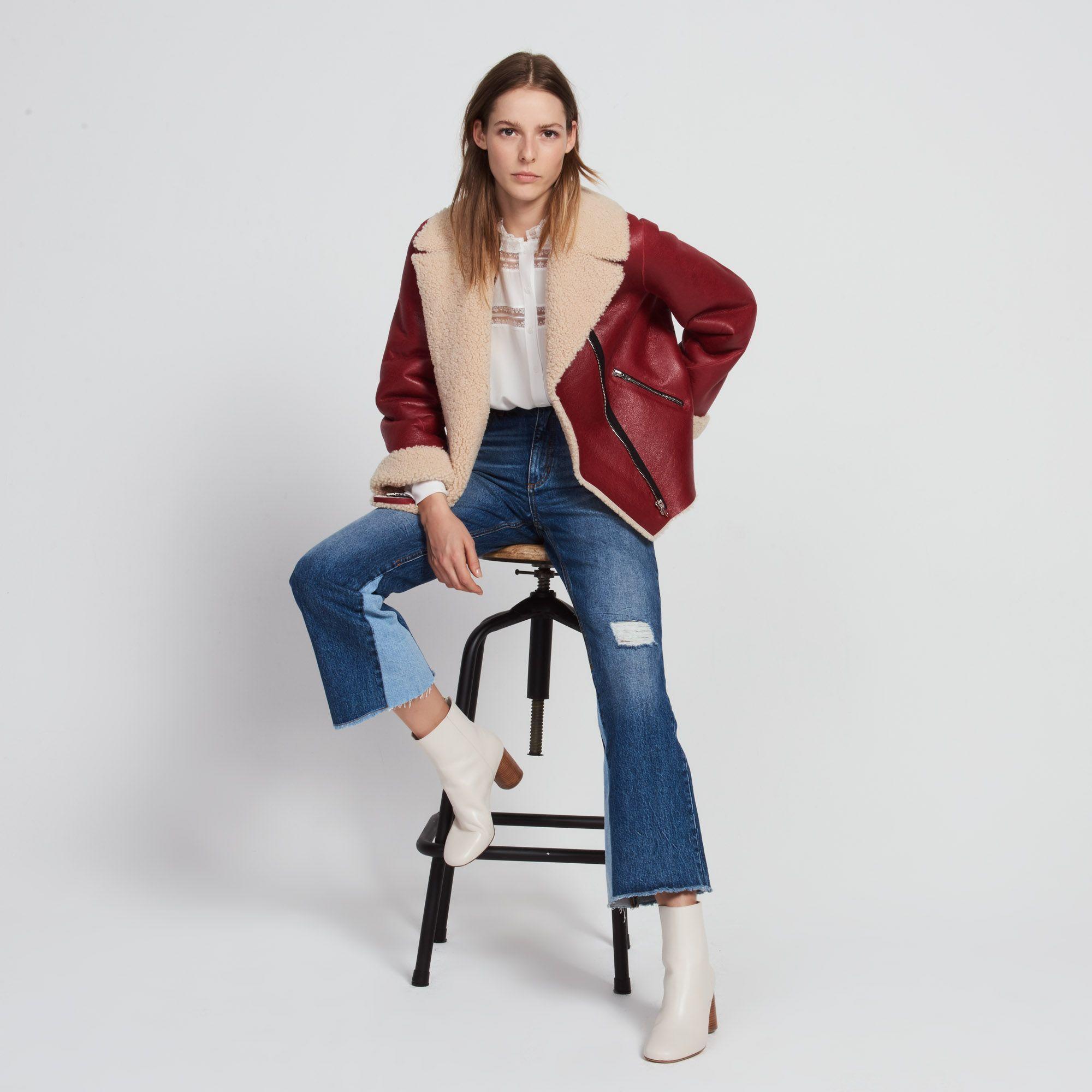 2a982dd33 Sheepskin jacket - Coats - Sandro-paris.com | chloe look | Designer ...