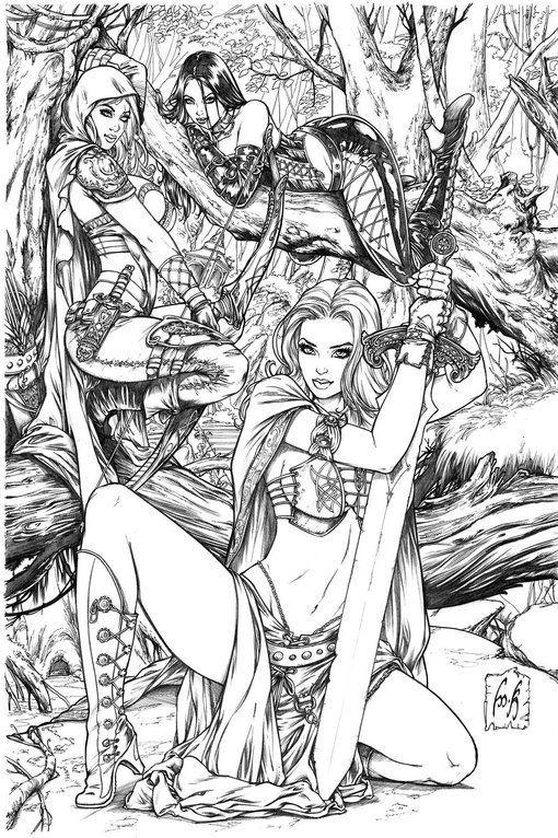 Grimm Universe by Kromespawn Deviantart Adult coloring