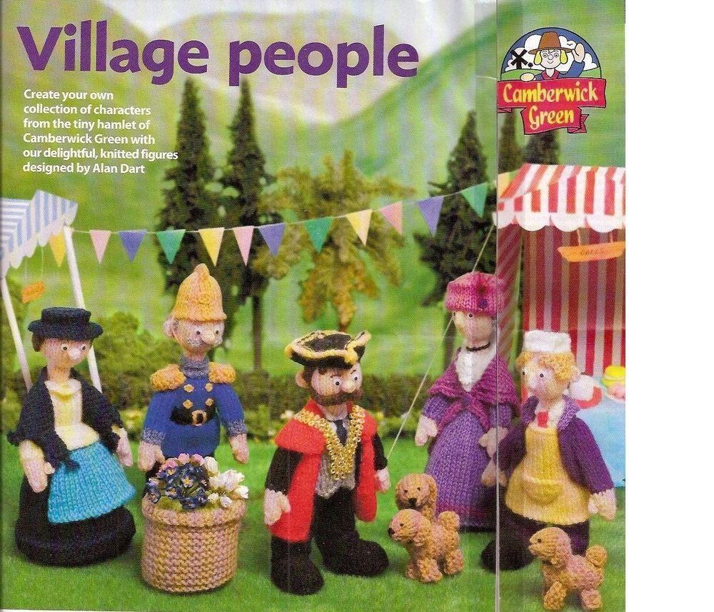 Alan DART_VILLAGE PEOPLE Chamberwick Knitting Pattern,Older_Child Doll TOY_RARE #AlanDart