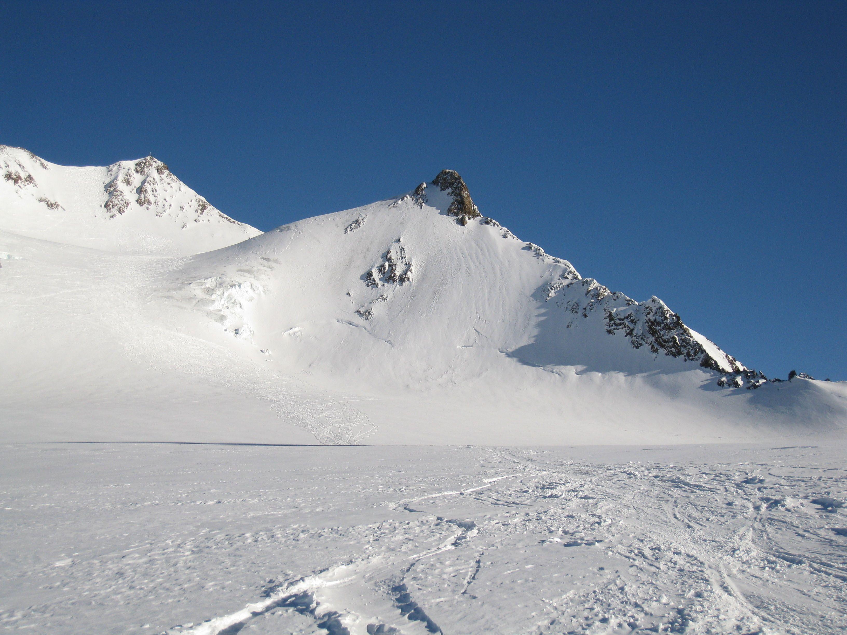 Perfekte Wetterbedingungen für eine Skitour in Österreich / Wildspitze