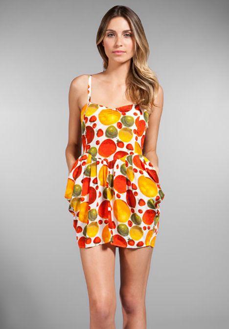 b1adf579ac0 SAMANTHA PLEET Fresh Squeezed Dress in Silk Fruit Print at Revolve Clothing  - Free Shipping!