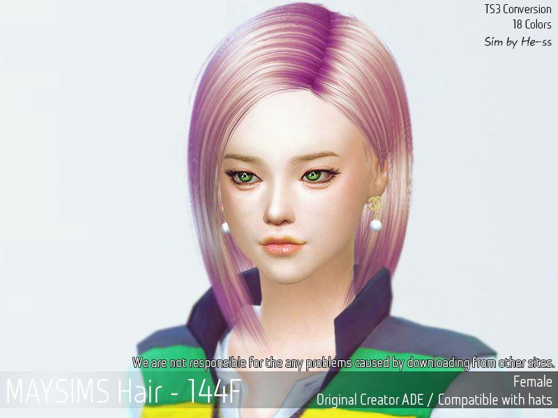 May Sims May 144f Hair Retextured Sims 4 Cc Finds Korean Hair