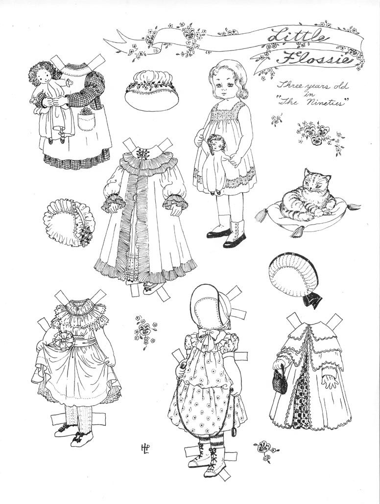LITTLE FLOSSIE BY HELEN PAGE a paper doll Paper dolls