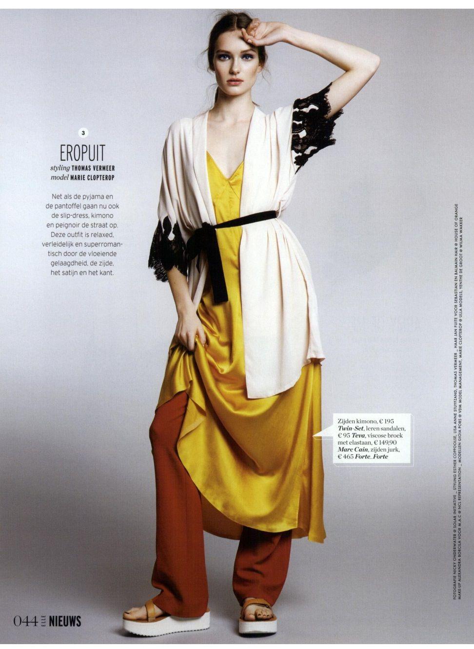 Twinset lingerie collection kimono slip contrasting lace lskgg