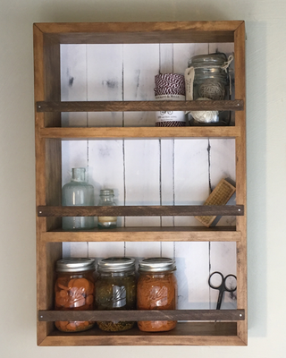 The Mansfield Spice Rack Wall Mounted Or Countertop Spice Rack