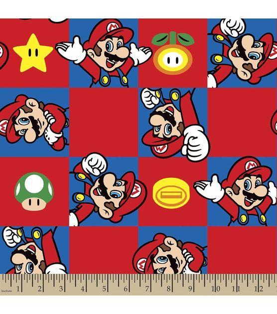 Nintendo Mario Print Fabric Super Mario Brothers Nintendo Fabrics