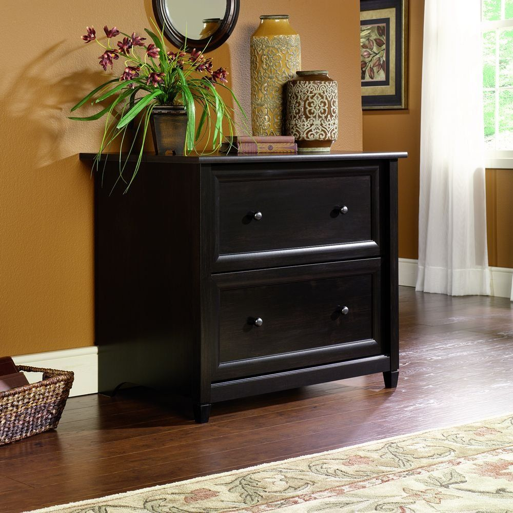 Sauder Edge Water Lateral File in Estate Black Lateral