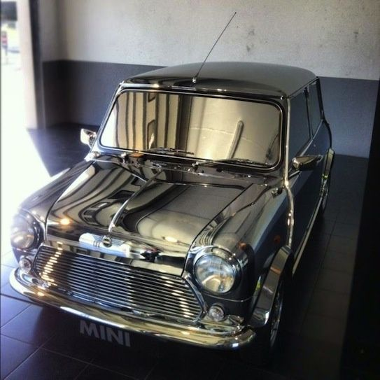 David Bowies stunning, if impractical, Classic Mini made an appearance at the festival.
