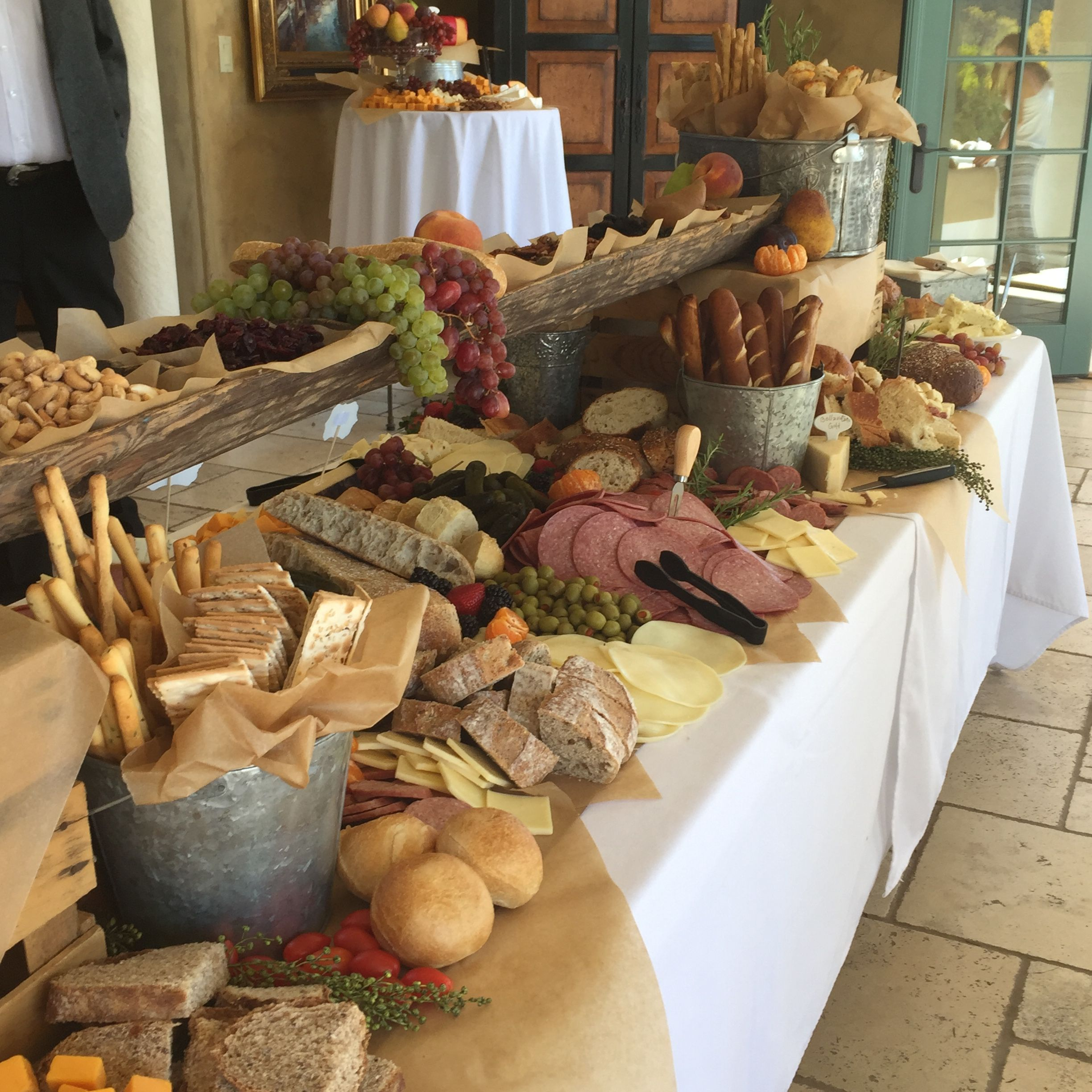 Charcuterie Table At Most Amazing Wedding Reception Ever