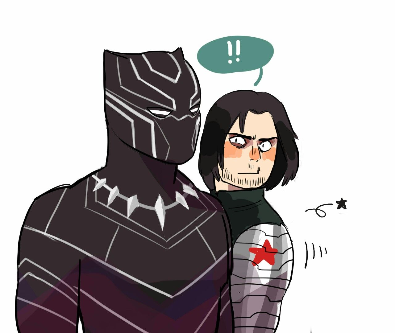 Bucky and t'challa