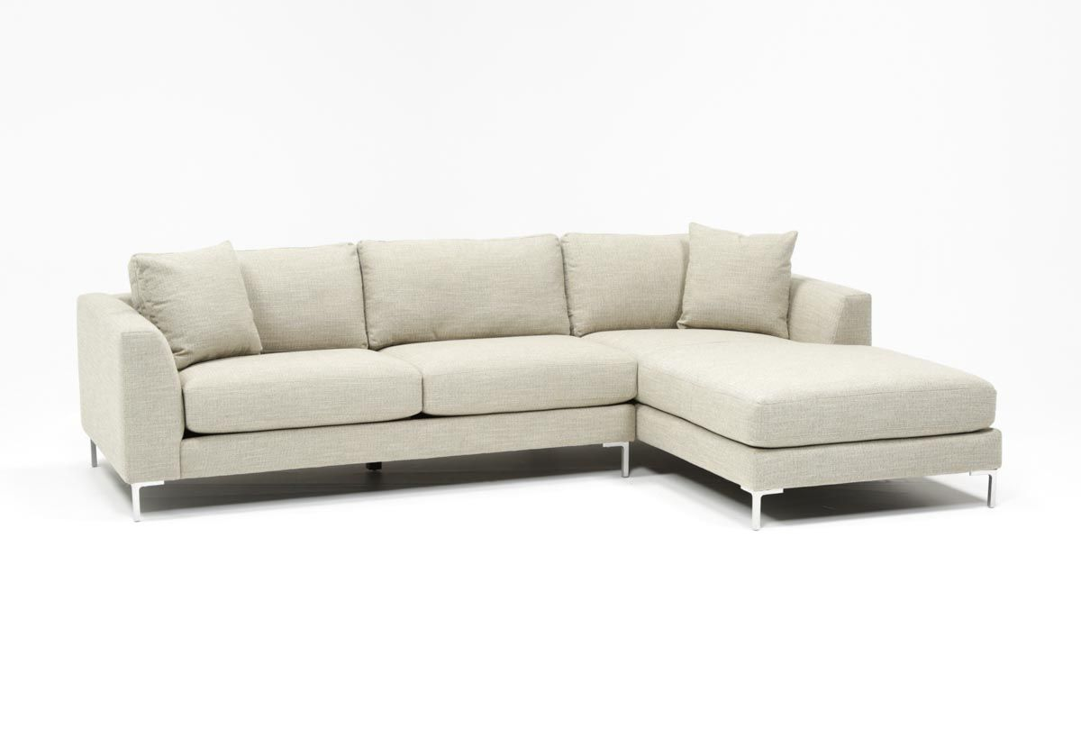 1400 Living Spaces Stella 2 Piece Condo Sectional W Raf Chaise Sectional Chaise Couch