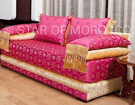 Extravaganza Fuschia 1 Moroccan sofa | Moroccan and Room