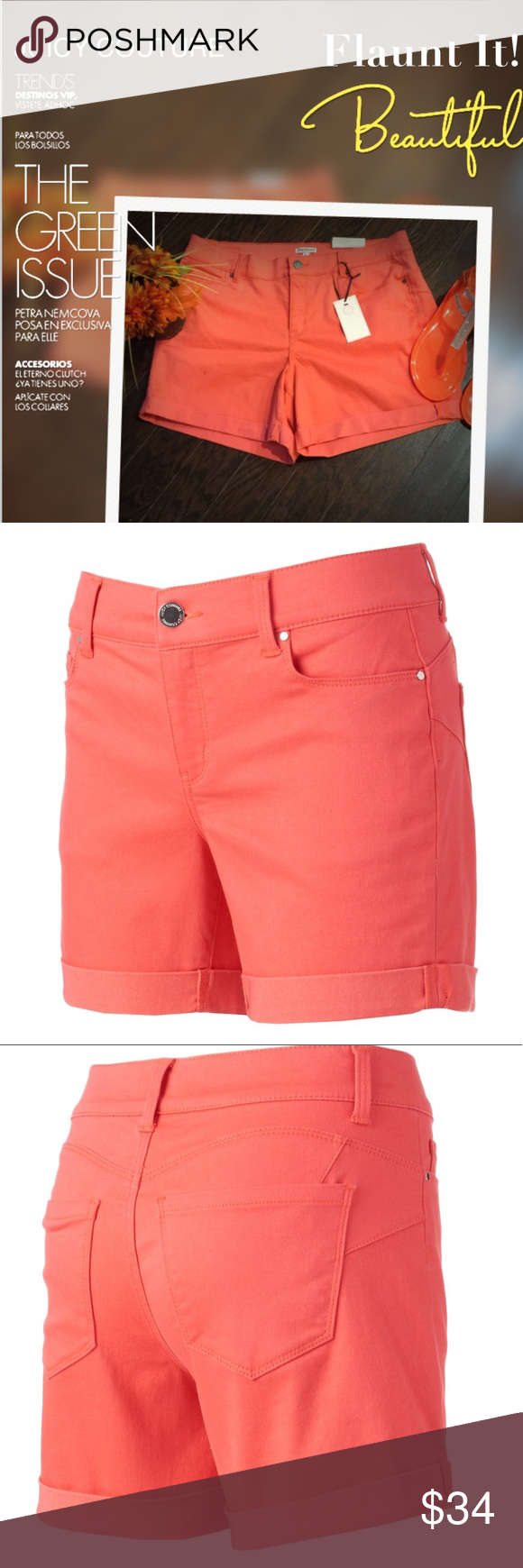 ddd3c6da7ac547 Women s JUICY COUTURE Cuffed Hem Shorts Wear your style with confidence in  these women s shorts from Juicy Couture. Enhanced yoke and darts complement  and ...