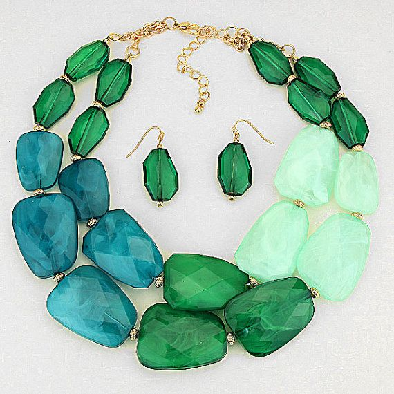 Emerald Isle Luxe Necklace by StyleStudiobyLuLu on Etsy