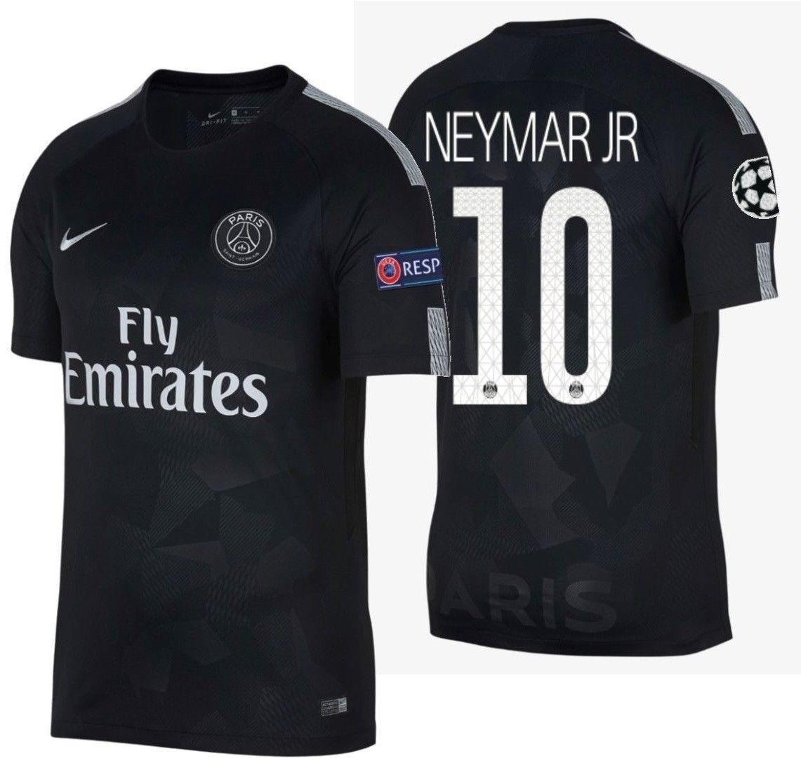 NIKE NEYMAR JR. PARIS SAINT-GERMAIN PSG UEFA CHAMPIONS LEAGUE THIRD JERSEY  2017/